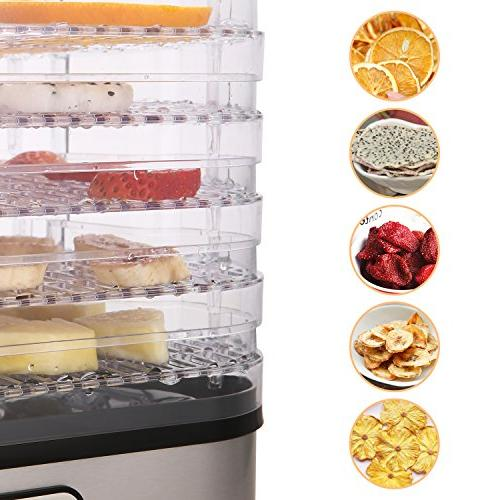 Food Dehydrator Electricity timer/5 Trays/LCD Display Free/250W