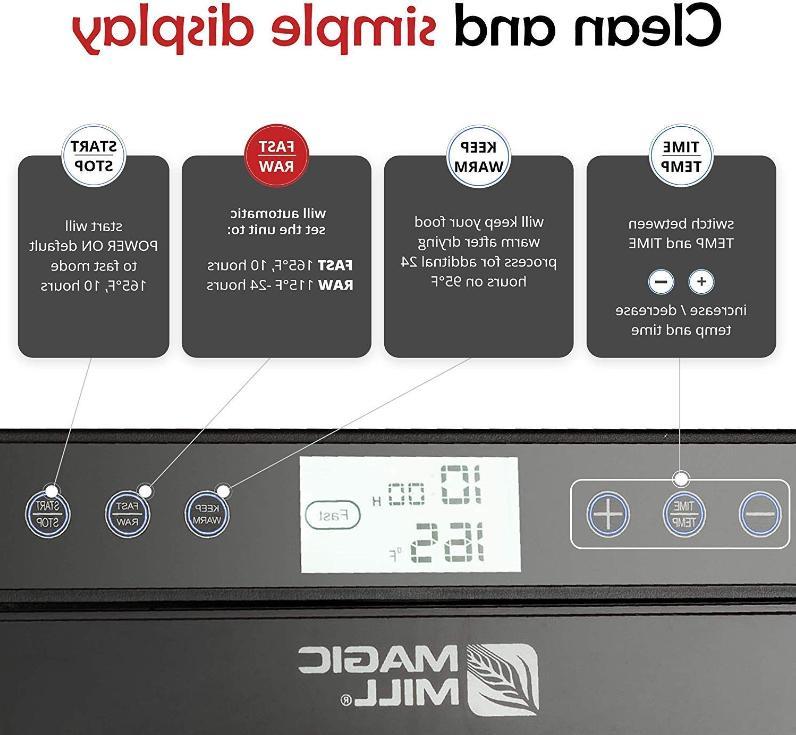 Magic Mill Dehydrator Machine, Adjustable Timer,