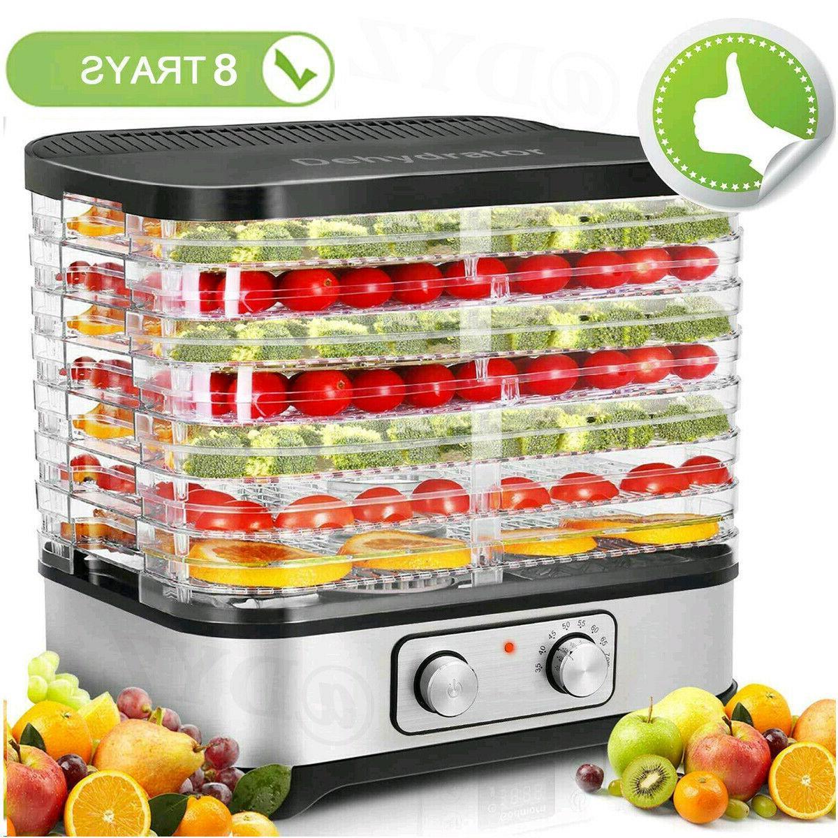 Homdox 8 Trays Food Dehydrator Machine Jerky/Meat/Beef/Fruit