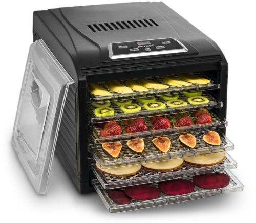 Food Dehydrator Machine Countertop Drying Shelves Digital Th
