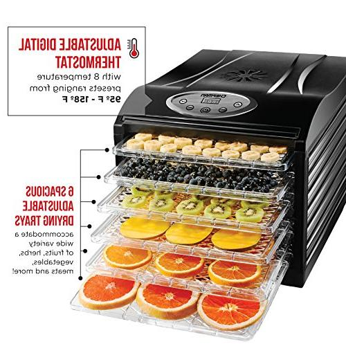 Chefman Food Machine Professional Electric Multi-Tier Food Preserver, Meat or Beef Jerky Maker, & Vegetable Slide &