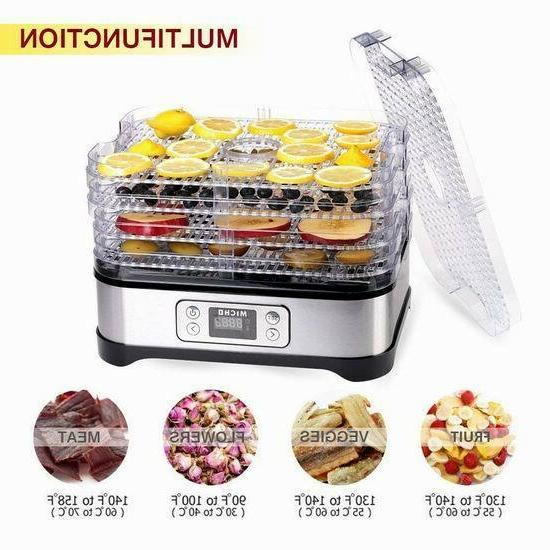 5 removable layers fast food dehydrator machine