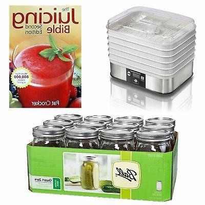 food dehydrator mason jars 12 pack