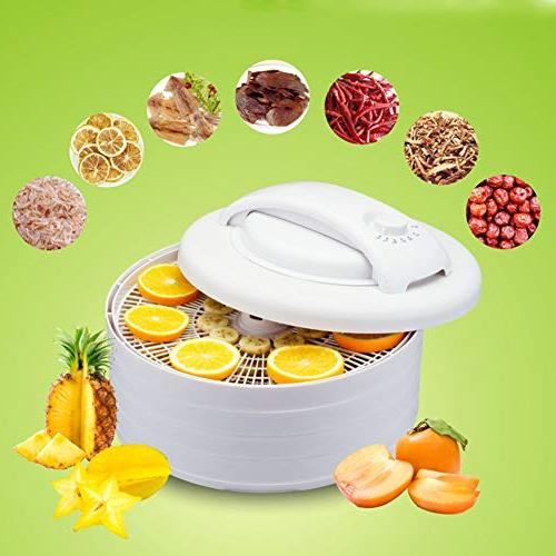 Fruit Dehydrator Air Dryer Organic 4 Layer Height Adjustment Machine,White,Onesize