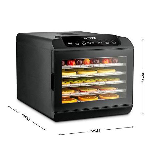 Gourmia GFD1680 Premium Countertop Food 6 Shelves Preset Temperature Settings Countdown Timer Book 110V
