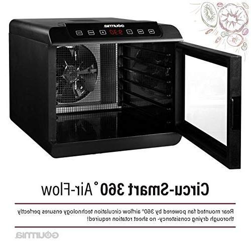 Gourmia Food Shelves Digital Temperature Settings Airflow Countdown Free Book