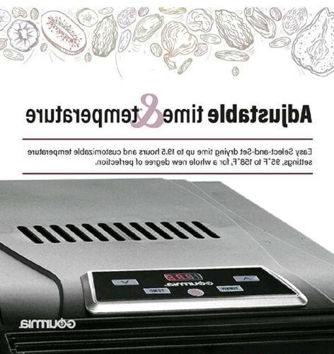 Gourmia GFD1950 Digital Food Dehydrator - Black