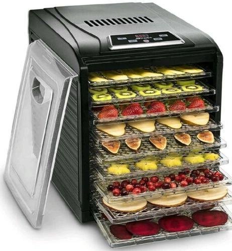 gourmia gfd1950 digital food dehydrator 9 trays