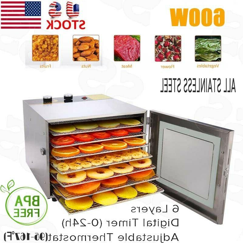 food dehydrator 6 trays stainless steel fruit