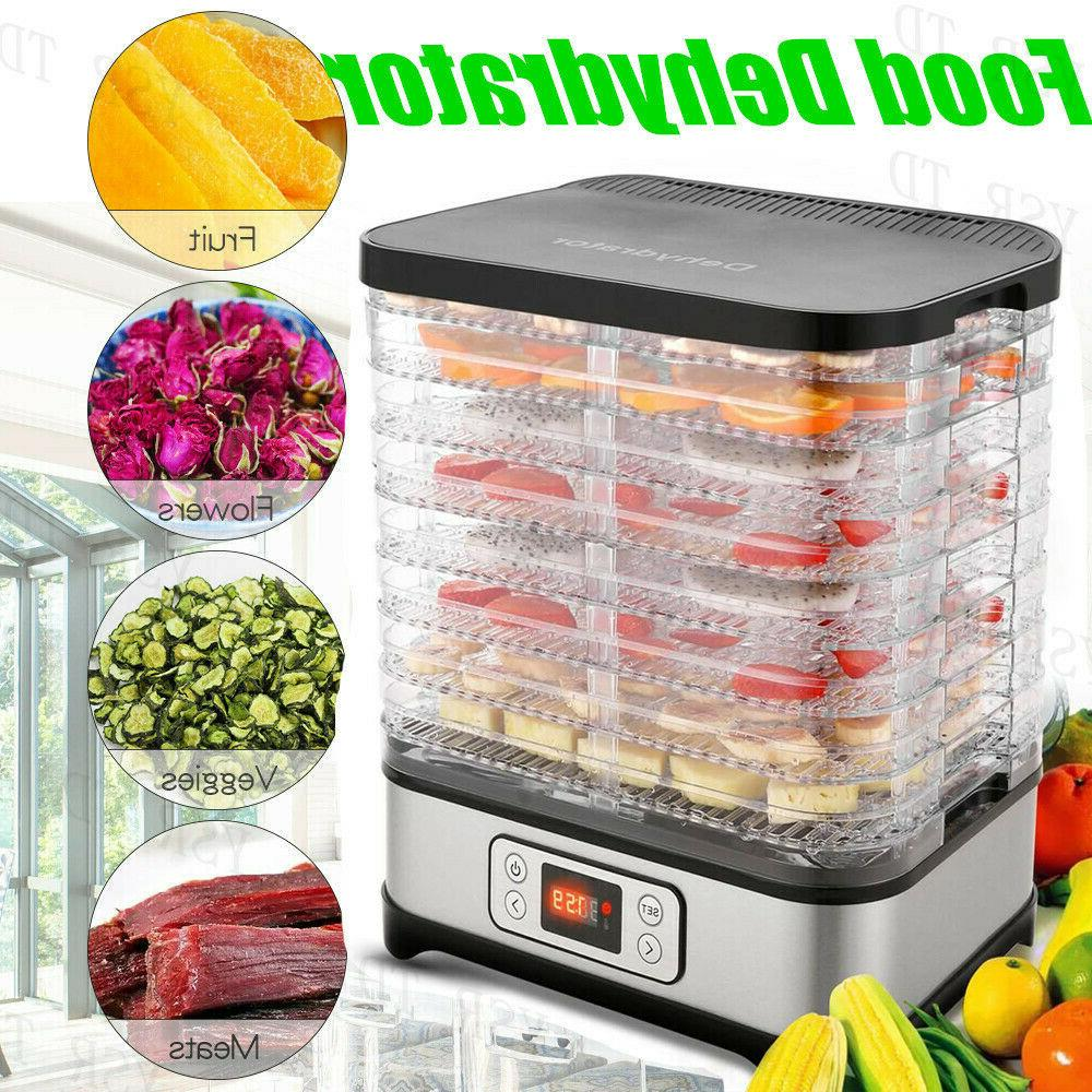 HOMDOX Dehydrator 6 Tier Steel Fruit Jerky Meat