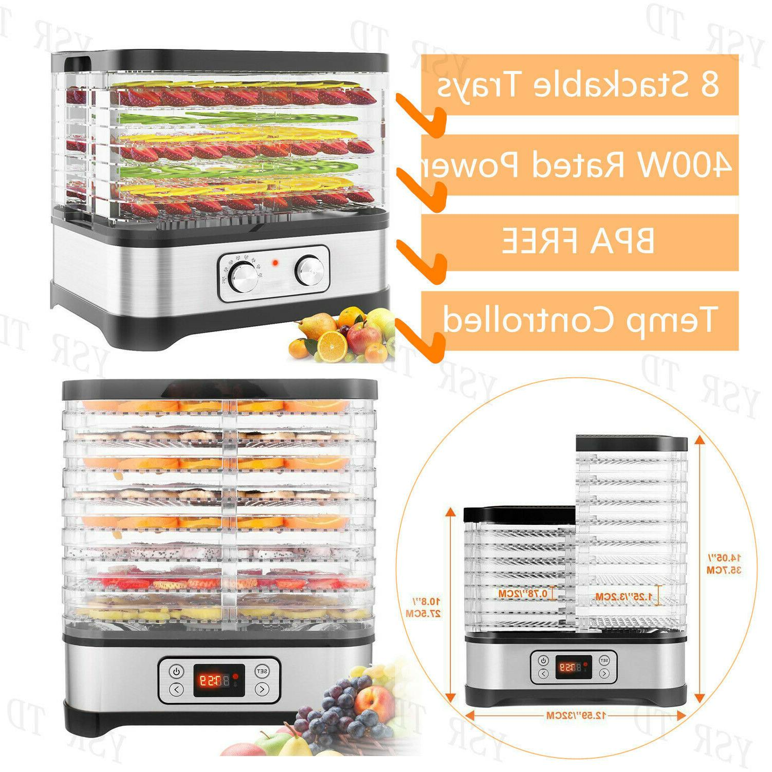 8Tier Electric Food Dehydrator Machine Fruit Dryer Beef Jerk