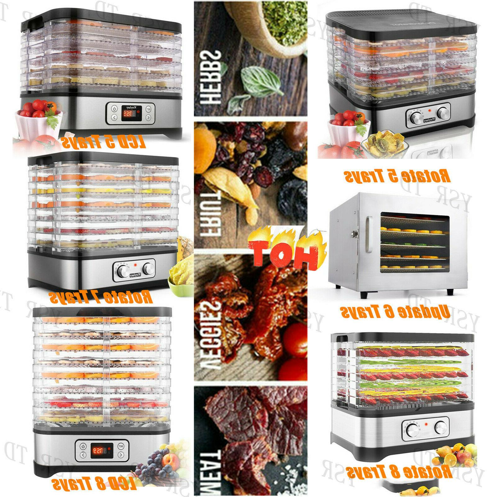 HOMDOX Food Dehydrator 8 Tier Stainless Steel Fruit Jerky Me