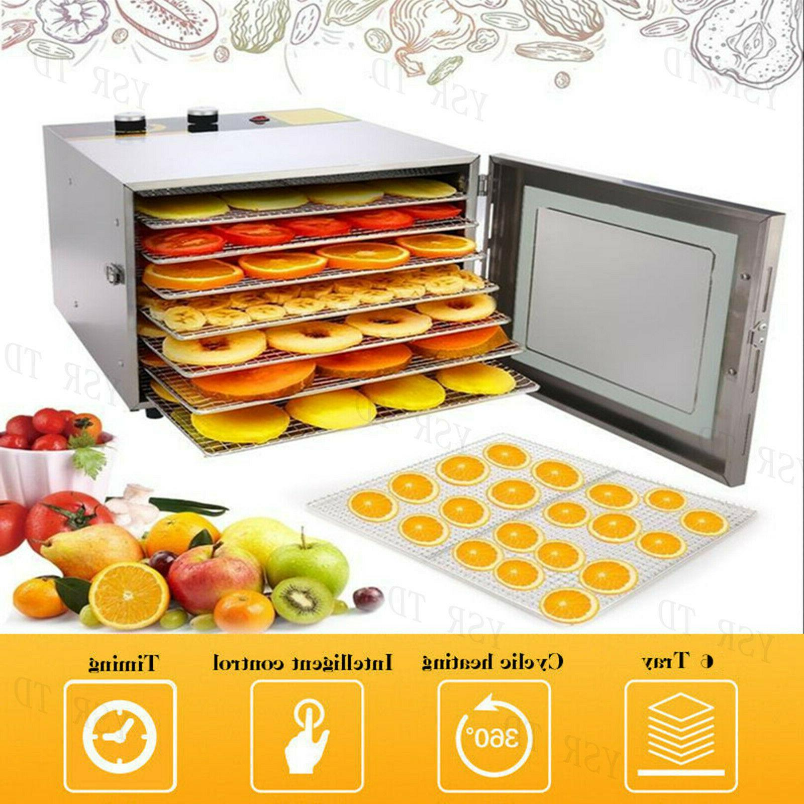 5-8 Tier Trays Electric Food Dehydrator Machine Fruit Dryer