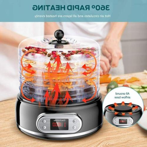 food dehydrator machine digital adjustable timer temperature