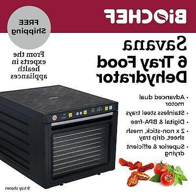 BioChef Food Dehydrator - 6 Trays - Best food dehydrator for