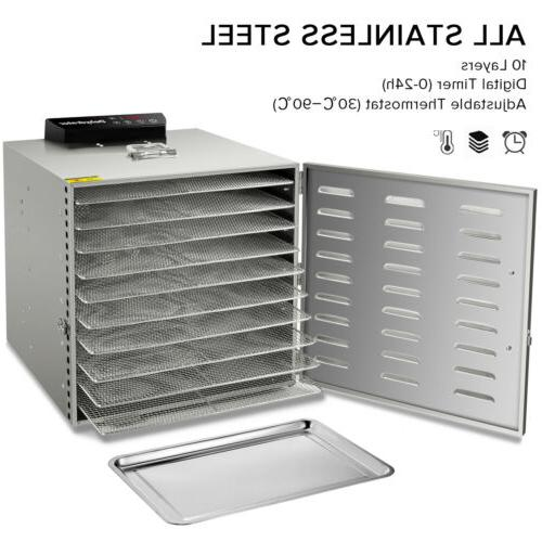 new commercial 10 tray stainless steel food