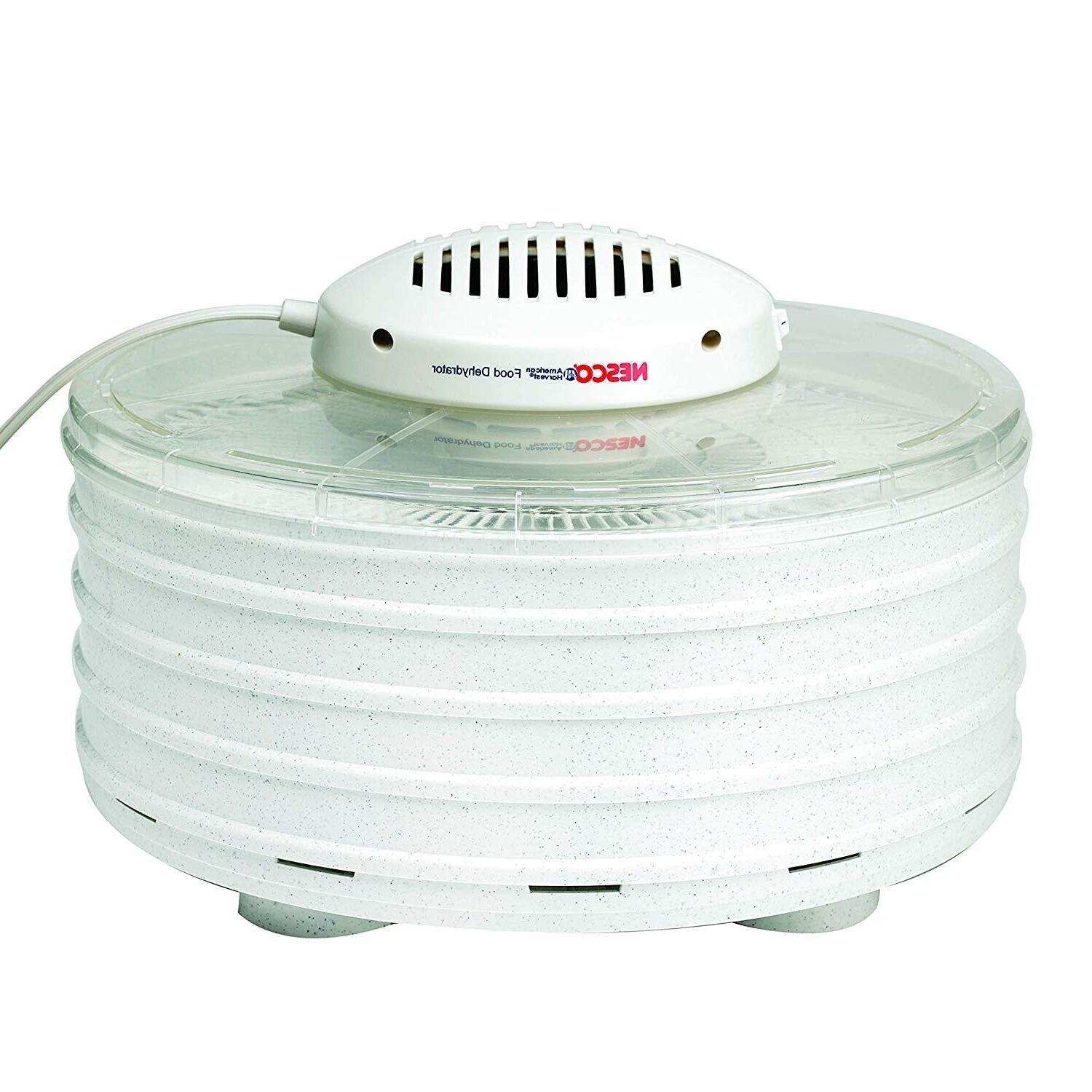 new hot food dehydrator white speckled marbled