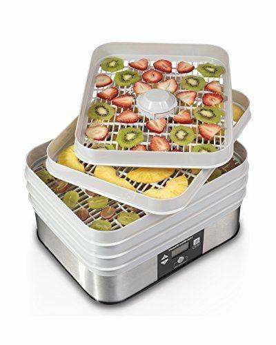 nib 32100a digital food dehydrator 5 tray
