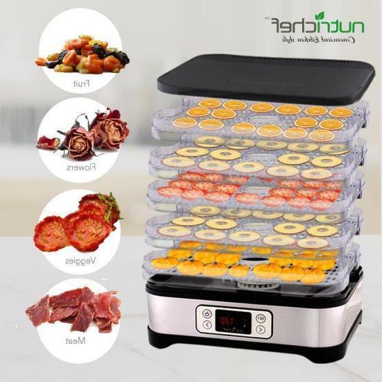 NutriChef PKFD32 Countertop Digital Food Dehydrator Trays