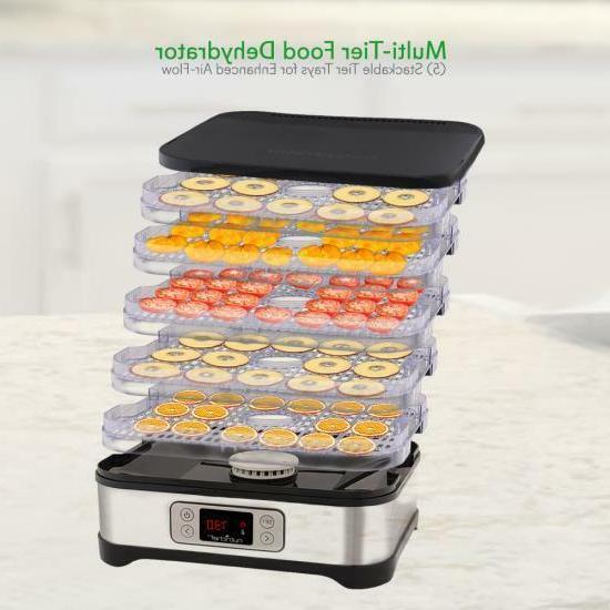 NutriChef PKFD32 Food Dehydrator Multi-Tier Stackable Trays