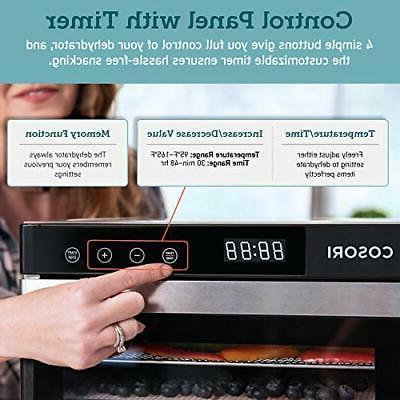 COSORI Premium Food Machine50 Free Recipes Stainless Steel Trays...