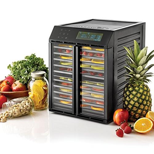 Excalibur Food Digital Controller Two Drying Time and Temperatures Program and Made Black