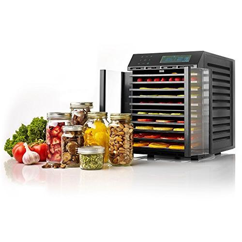 Excalibur Food Dehydrator Digital Two Drying with Time and Recipes Made in USA, Black