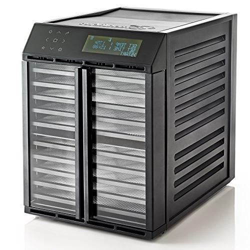 Excalibur RES10 Food with Smart Digital Drying Zones with Time and Temperatures and Save 30 Made 10-Tray, Black