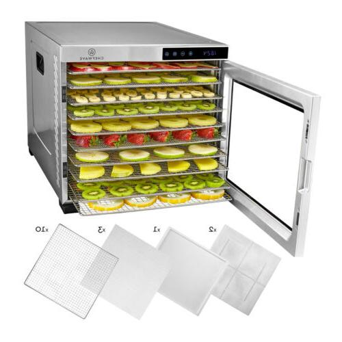 secco pro food dehydrator with 10 drying