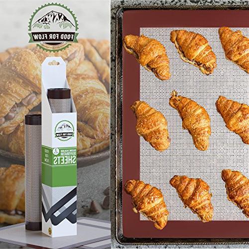 Square Silicone Dehydrator Sheets Snacks, Heavy-Duty, | Non-Stick | Kitchen Recipe Ebook