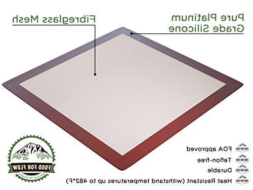 Square Silicone Excalibur Dehydrator Heavy-Duty, Reusable Non-Stick Surface Kitchen Use Recipe