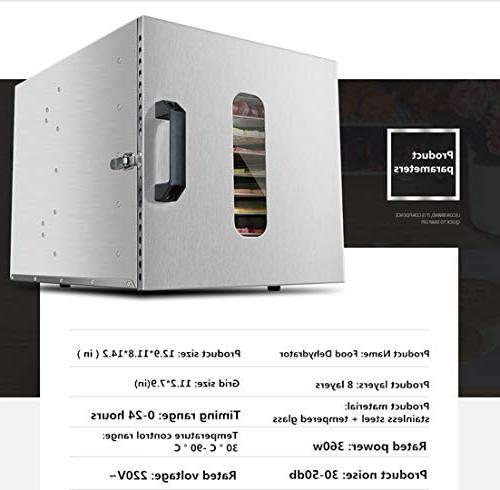 Stainless Steel Drying Meat Machine Dry Low and Power Automatic Temperature Power Household Kitchen