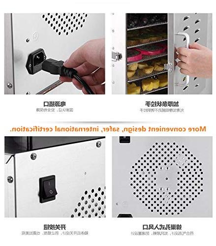 Stainless Steel Drying Model 8-Layer Dry Meat Low Noise and Power Automatic Power Saving Safety life and