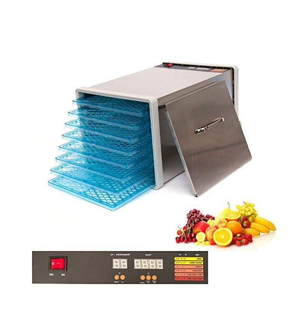 stainless steel food fruit dehydrator with digital