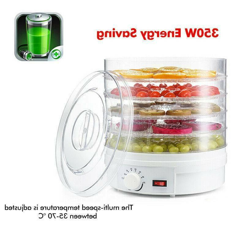 5-Tray Food Dehydrator Adjustable Countertop Drying