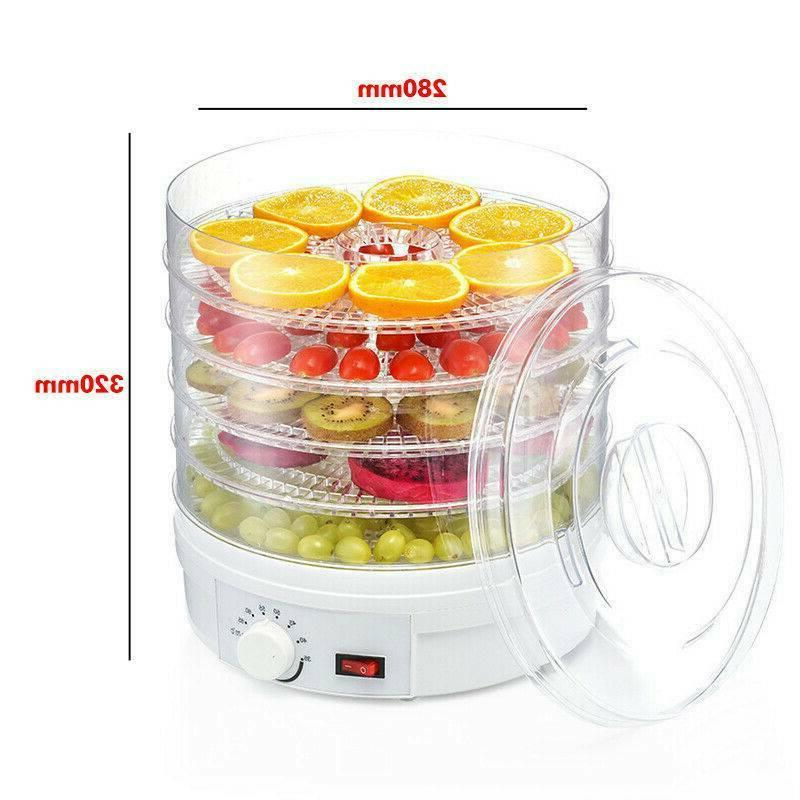 5-Tray Food Adjustable Portable Drying
