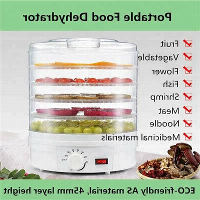 us 5 trays food dehydrator fruit vegetable