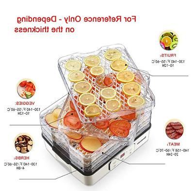 5 Trays Food Preserver Fruit Vegetable Beef