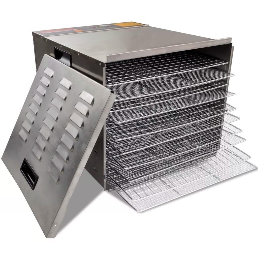 Vidaxl 10 Tray Professional Fruit <font><b>Food</b></font> Dryer <font><b>Stainless</b></font> Vegetable Air Dryer Electric