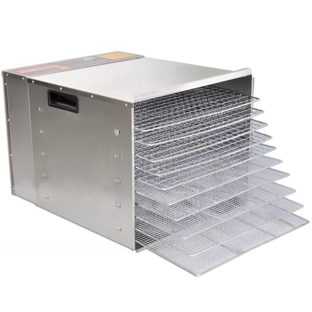 Vidaxl Professional Dryer <font><b>Stainless</b></font> Vegetable Dryer Electric