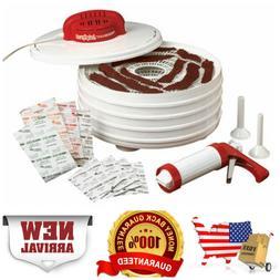 Meat Jerky Dehydrator Kit With Jerky Gun 13 1/2 Inch Wide Dr