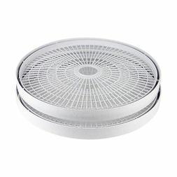 Nesco Food Dehydrator Trays Set 2-Piece Round White Drying F
