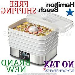 new 5 tray food dehydrator clear lid