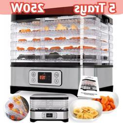 new 5 tray food dehydrator machine electric