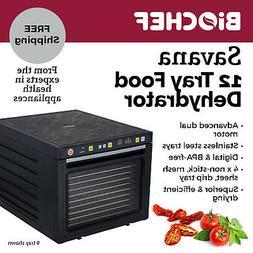 NEW BioChef Food Dehydrator - 12 S/Steel trays with timer &