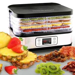 NutriChef PKFD32 Countertop Digital Food Dehydrator Multi-Ti