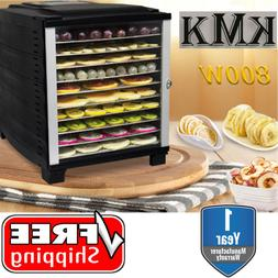 KMK Premium 10 Tray Food Dehydrator 800W Timer Dryer Preserv