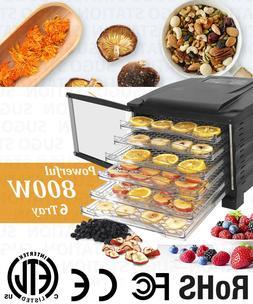 Premium KMK 6 Tray Food Dehydrator 800W Timer Dryer Preserve