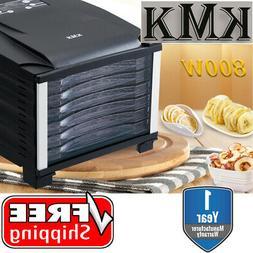 KMK Premium 6 Tray Food Dehydrator 800W Timer Dryer Preserve