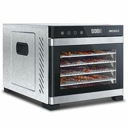 COSORI Premium Food Dehydrator Machine, 6 Trays with Timer a